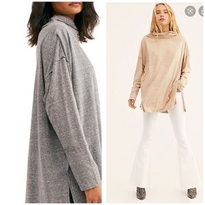 Free People Tops - Free People Gray Long Sleeve Tunic Size Small